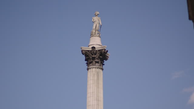 gvs nelson's column, london - male likeness stock videos & royalty-free footage