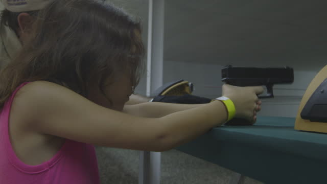 gvs of an nra-hosted target shooting event in puerto rico. - praticare video stock e b–roll