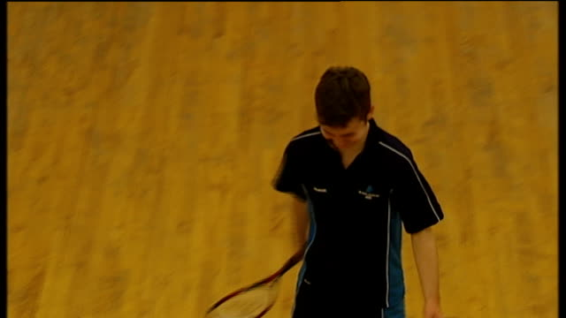 gvs of black country university technical college various of students playing squash various of students playing 5aside football - squash sport stock videos & royalty-free footage