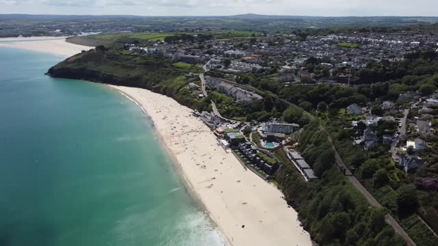 gvs of carbis bay in cornwall where the g7 summit 2021 is being held - idyllic stock videos & royalty-free footage