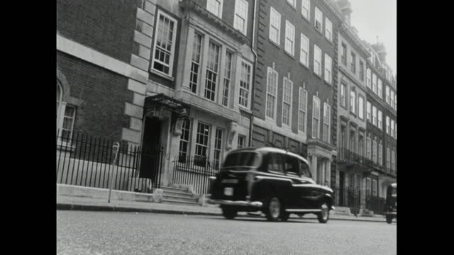 gvs of cars on city roads in mayfair, london; 1967 - 1967 stock videos & royalty-free footage