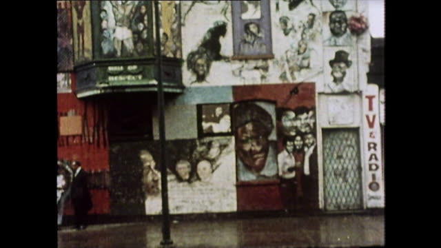 gvs of chicago street covered in graffiti; 1976 - racism stock videos & royalty-free footage
