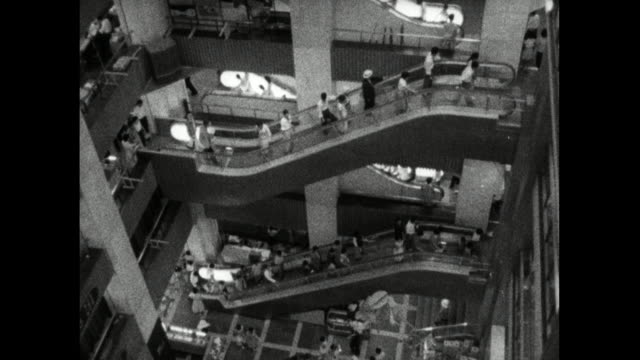 gvs of department store in ginza district of tokyo; 1959 - department store stock videos & royalty-free footage