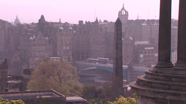 gvs of edinburgh old town - city life stock videos & royalty-free footage