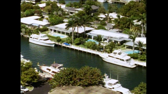 gvs of fort lauderdale boats and marina; 1991 - yacht stock videos & royalty-free footage