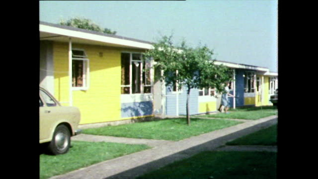 gvs of holiday chalets at a holiday park in devon; 1981 - 1981 stock videos & royalty-free footage