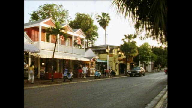 gvs of key west cityscape in florida; 1991 - key west stock videos & royalty-free footage