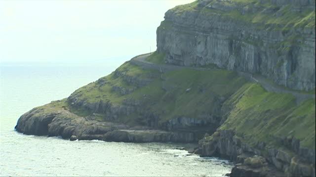 gvs of llandudno cliffs and headland - cape stock videos & royalty-free footage