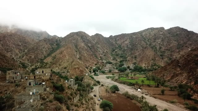 gvs of mountains in hajjah, in the houthi controlled north of yemen - landscape scenery stock videos & royalty-free footage