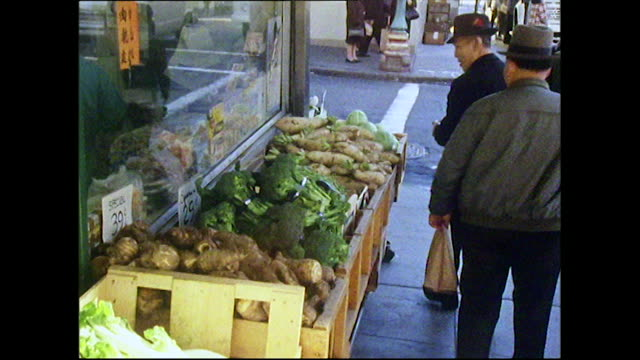 gvs of people shopping in san francisco's chinatown; 1972 - chinese language stock videos & royalty-free footage