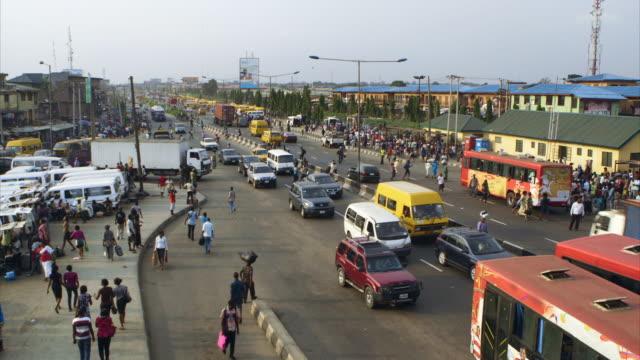 gvs of streets in lagos, nigeria - nigeria stock videos & royalty-free footage