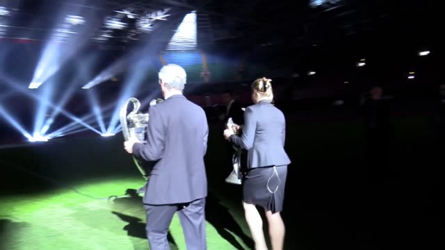 Gvs of the Champions League trophy arriving at the Principality Stadium in Cardiff Interview with former Wales striker Ian Rush who talks about his...