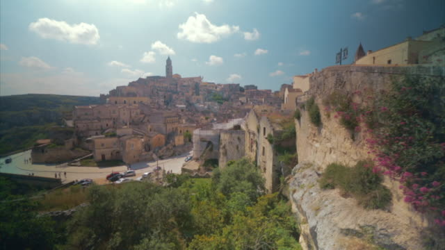 GVs of the city of Matera in Italy including cave dwellings