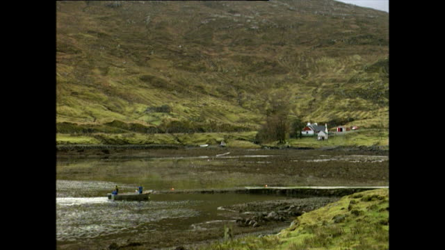 gvs of the isle of harris in scotland; 1996 - hebrides stock videos & royalty-free footage