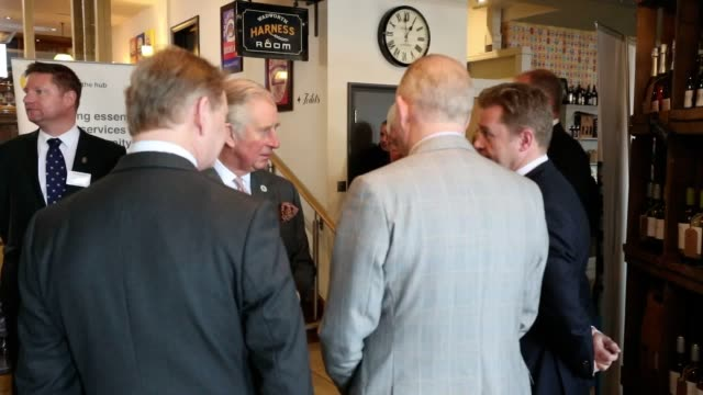 gvs of the prince of wales autographing a plaque during a visit to the wadworth brewery in devizes wiltshire which works closely with the prince's... - autographing stock videos & royalty-free footage