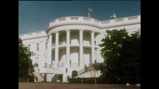 vídeos y material grabado en eventos de stock de gvs of the white house in 1970 - democracia