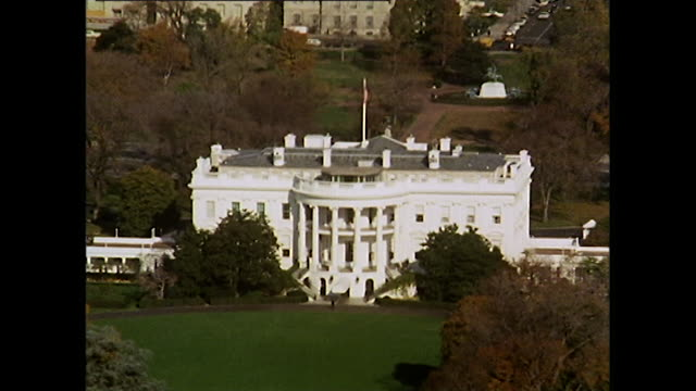 gvs of white house, capitol building, jefferson memorial; 1972 - general view stock videos & royalty-free footage