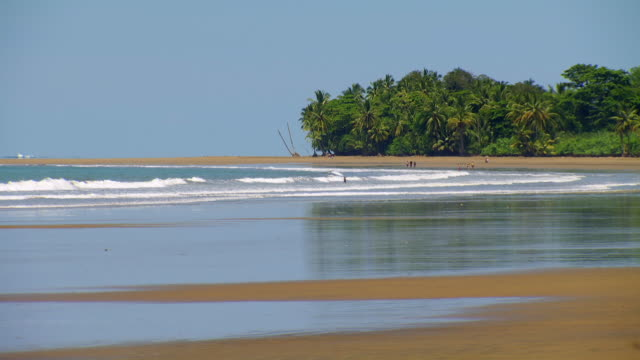 gvs pacific coastline of costa rica - costa rica stock videos & royalty-free footage