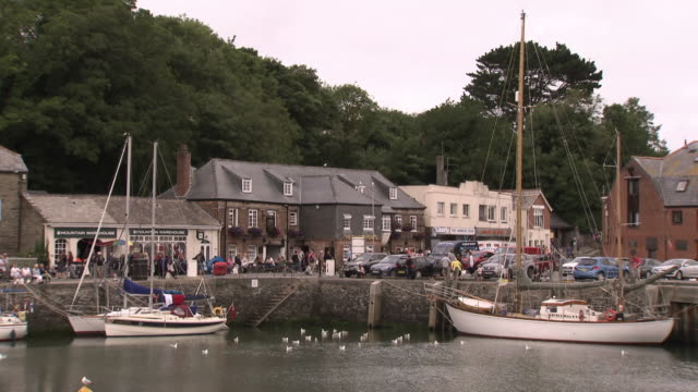 gvs padstow in cornwall, uk. - small boat stock videos & royalty-free footage