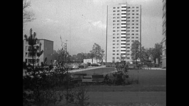 gvs postwar regeneration and high rise apartments in west berlin; 1959 - 1950 1959 stock videos & royalty-free footage
