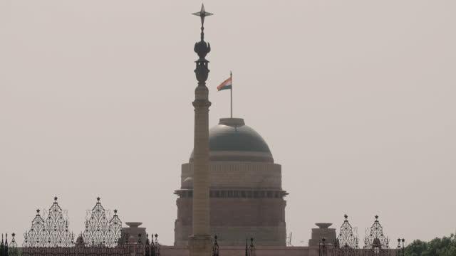 gvs rashtrapati bhavan and the jaipur column, delhi - india politics stock videos & royalty-free footage