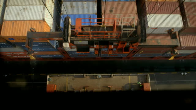 gvs rotterdam container port - schiffsfracht stock-videos und b-roll-filmmaterial