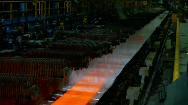 gvs steelworks production line - metal industry stock videos & royalty-free footage