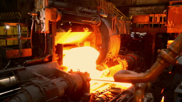 gvs steelworks production line - furnace stock videos & royalty-free footage