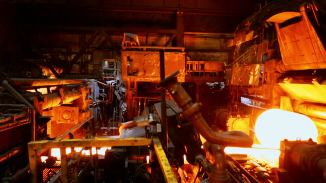 gvs steelworks production line - steel mill stock videos & royalty-free footage