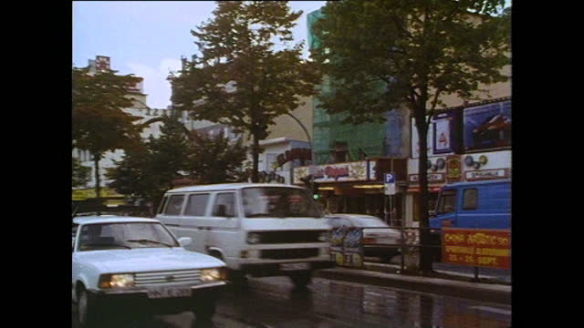 gvs store fronts in hamburg's reeperbahn red light district; 1991 - establishing shot stock videos & royalty-free footage