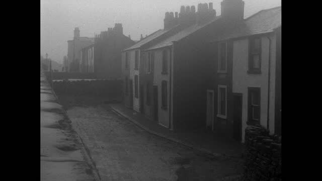 gvs terraced houses in the streets around sellafield, uk; 1956 - 1956 stock videos & royalty-free footage