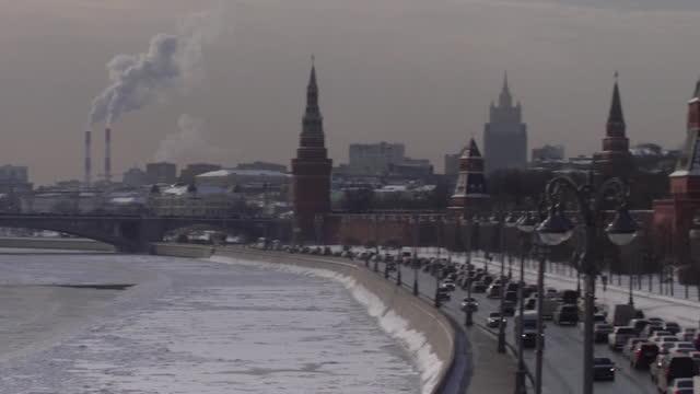 vidéos et rushes de gvs the kremlin - fédération de russie