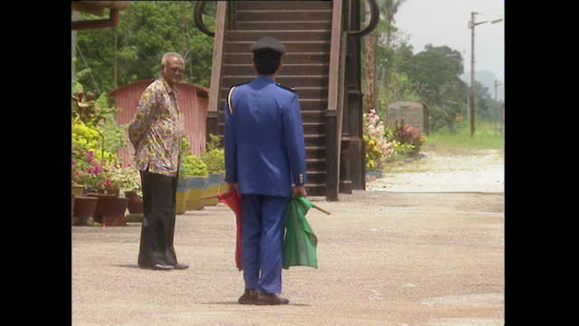 gvs train station in a rural area of malaysia; 1996 - 1996 stock videos & royalty-free footage