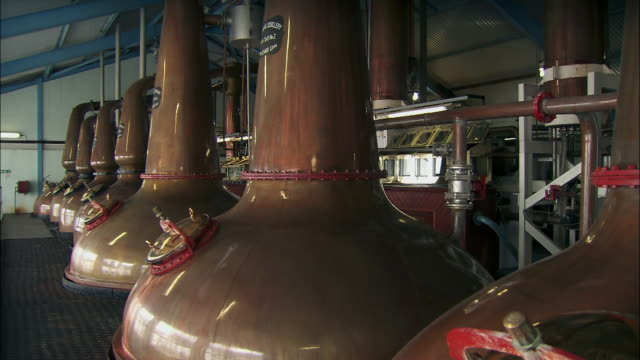 gvs whisky distillery, scotland - storage tank stock videos & royalty-free footage