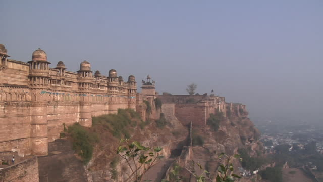 ws, pan, gwalior fort, gwalior, madhya pradesh, india - fortress stock videos and b-roll footage