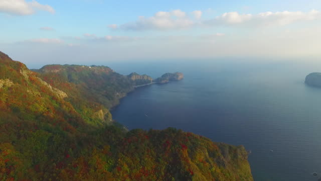 gwaneumdo island (north side of ulleungdo island), south korea - seascape stock videos & royalty-free footage