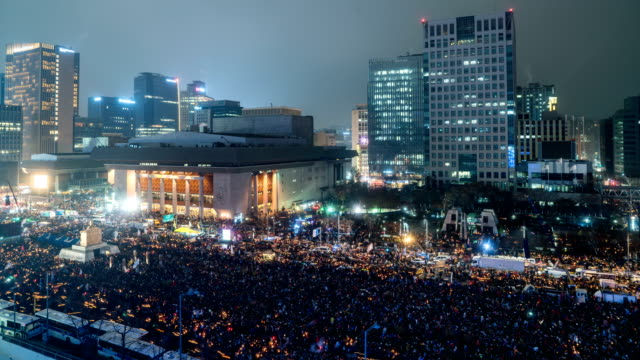 Gwanghwamun Square Peaceful candlelight protest against President Park Geun hye to resign (One of the largest anti-government protests in Korea)