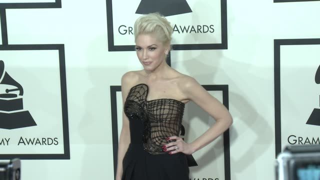 gwen stafani at the 57th annual grammy awards - red carpet at staples center on february 08, 2015 in los angeles, california. - gwen stefani stock videos & royalty-free footage