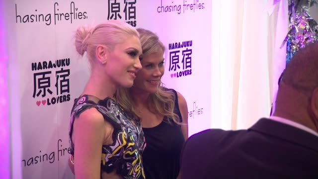 Gwen Stefani and Allison Sweeney at the Chasing Fireflies And Gwen Stefani Present Harajuku Lovers Fall 2015 Collection at Duff's Cakemix on...