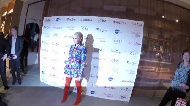 Gwen Stefani at Domino x Fred Segal CB2 Pop Up in Los Angeles in Celebrity Sightings in Los Angeles