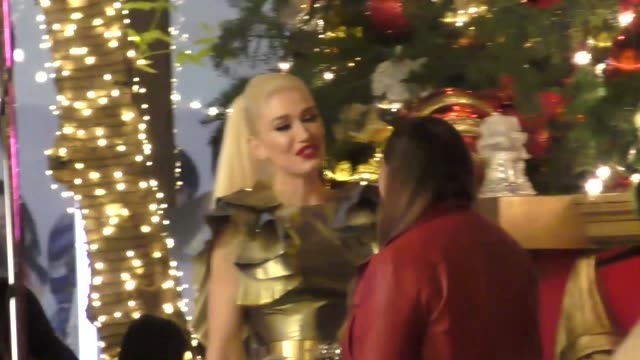 Gwen Stefani at her popup store at The Grove in Los Angeles at Celebrity Sightings in Los Angeles on November 24 2017 in Los Angeles California
