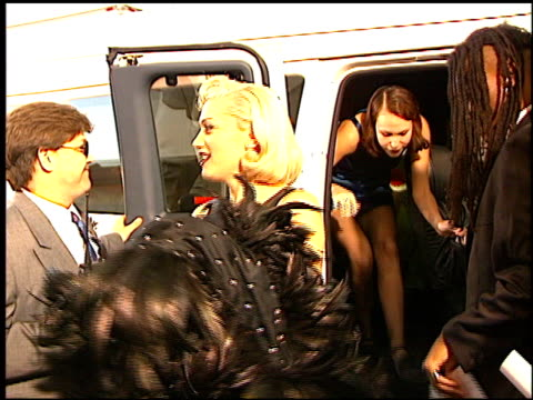 gwen stefani at the american music awards at the shrine auditorium in los angeles, california on january 27, 1997. - gwen stefani stock videos & royalty-free footage