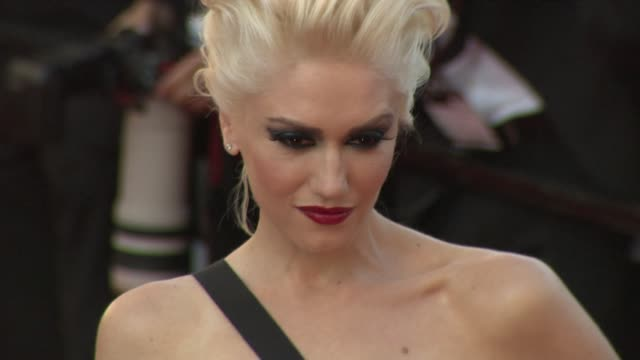 gwen stefani at the 'this must be the place' premiere during the 64th cannes film festival at the this must be the place red carpet arrivals: 64th... - gwen stefani stock videos & royalty-free footage