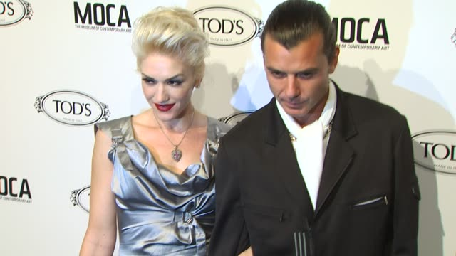 gwen stefani, gavin rossdale at the diego della valle celebrates tod's boutique and moca's jeffrey deitch at beverly hills ca. - gwen stefani stock videos & royalty-free footage