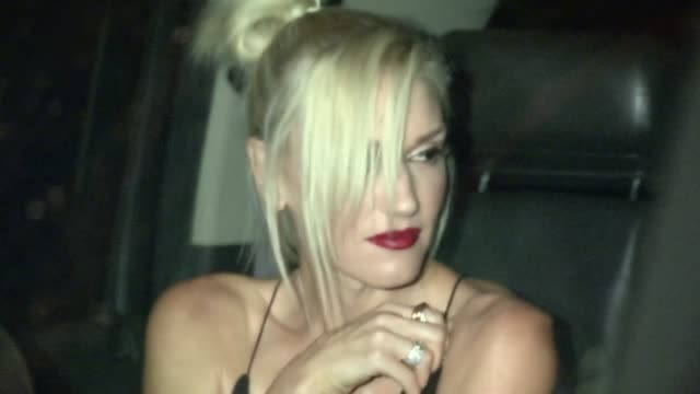 Gwen Stefani Gavin Rossdale greet fans at Madeo in West Hollywood 09/14/12
