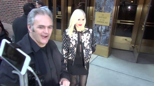 Gwen Stefani leaving Z100 Radio Station Celebrity Sightings on December 03 2015 in New York City New York