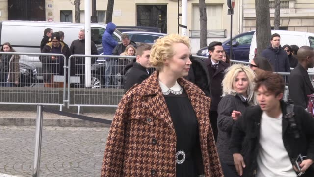 Gwendoline Christie arrives at the Miu Miu show as part of the Paris Fashion Week Womenswear Fall/Winter 2018/2019 on March 6 2018 in Paris France