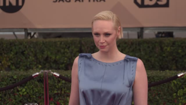 gwendoline christie at the 22nd annual screen actors guild awards - arrivals at the shrine auditorium on january 30, 2016 in los angeles, california.... - shrine auditorium stock videos & royalty-free footage