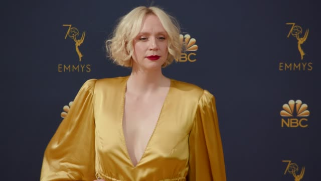 gwendoline christie at the 70th emmy awards arrivals at microsoft theater on september 17 2018 in los angeles california - emmy awards stock videos & royalty-free footage