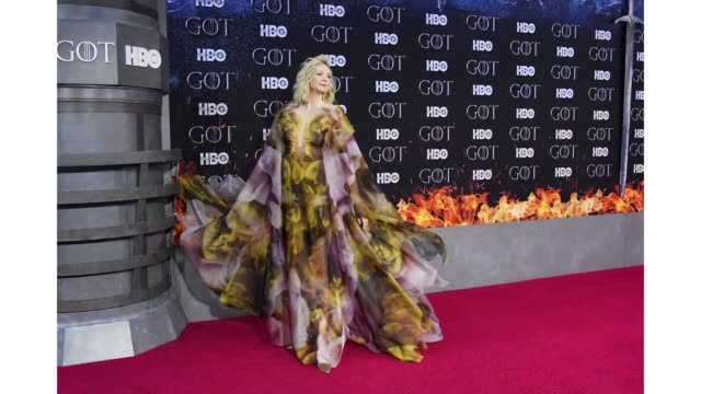 Gwendoline Christie attends the 'Game Of Thrones' season 8 premiere on April 3 2019 in New York City